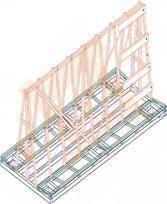 А-образная стойка (пирамида) А-1830 для стекла, стеклопакетов, зеркал