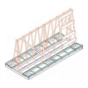 А-образная стойка (пирамида) для стекла, стеклопакетов, зеркал А-1830