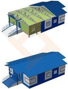 Модульный городок, модульные здания