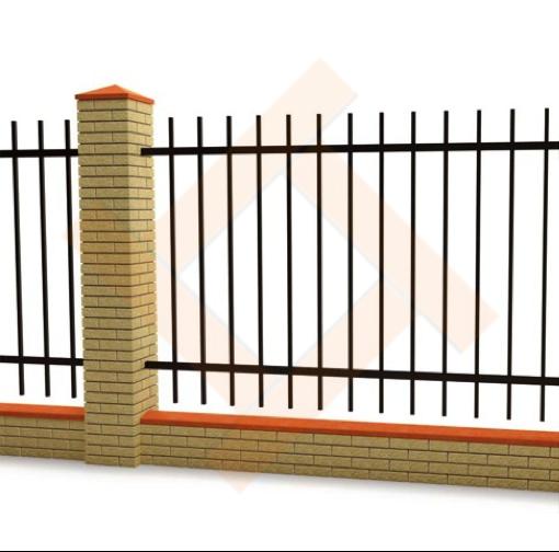 Декоративный металлический забор (ограждение)