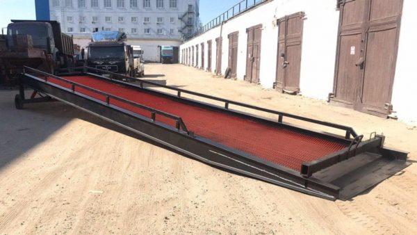 Гидравлическая мобильная рампа: 10 тонн / 12 метров