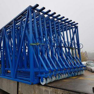 Кассетный выдвижной склад листового DLF стекла