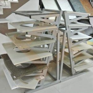 Стеллаж L- образный хранения готовой продукции из камня, мрамора, гранита