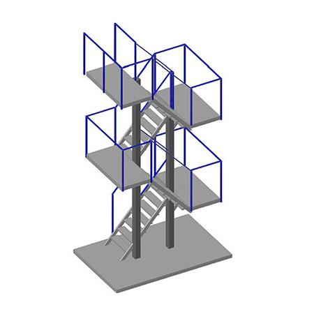 многомаршевая Эвакуационная лестница - цена завода