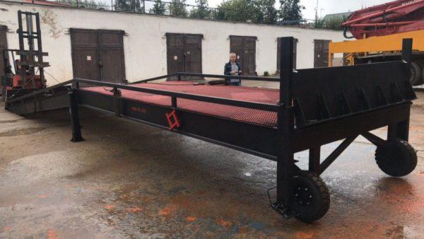 Механическая мобильная рампа: 10 тонн, 12 метров