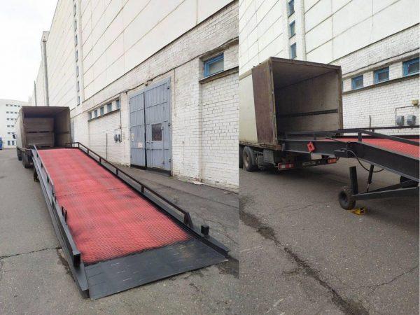 гидравлическая передвижная рампа. грузоподъемность 10 тонн, длина 12 метров