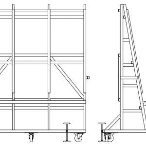 Мобильная стойка опрокидывания и подачи стекла DLF-2630