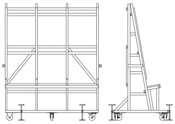 Мобильная стойка опрокидывания и подачи DLF стекла DLF-2630