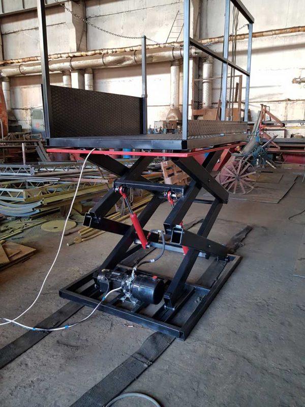 ножничный подъемный стол (складской) - metalwork.by