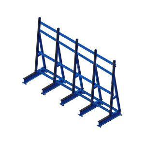 Односторонняя стойка (навал) L-5036 для листового стекла JUMBO, PLF