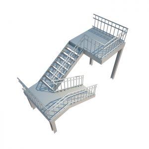 Офисная металлическая лестница