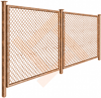 Ограждение (забор) из сетки рабицы 1.5 метра
