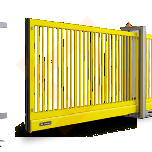 Автоматические сварные металлические откатные ворота