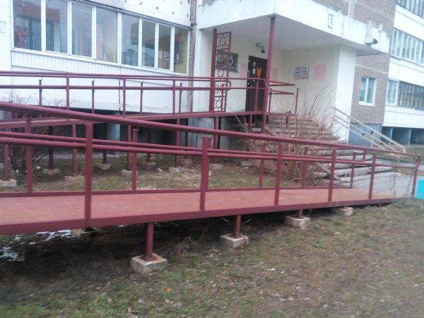 металлический пандус собственного производства - metalwork.by