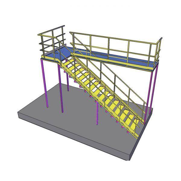 площадка обслуживания стационарная с лестницей