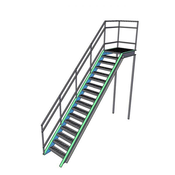 пожарная прямая лестница (одномаршевая)
