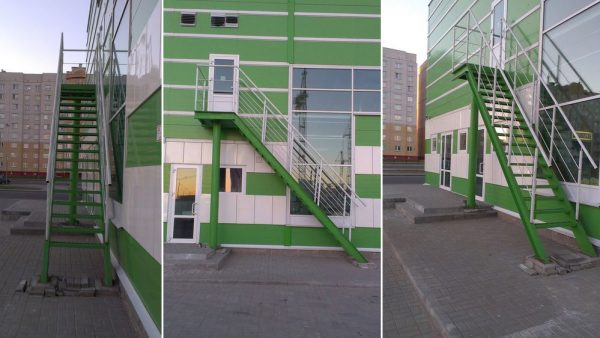 пожарная прямая лестница (одномаршевая) - АЛМИ