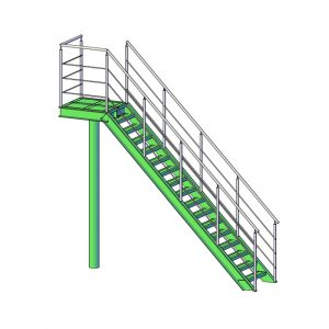 Пожарная лестница одномаршевая