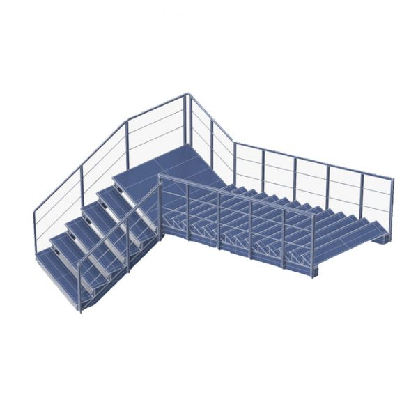 промышленная лестница из металла под заказ по цене завода