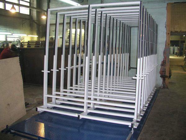 Раздвижной склад для хранения листового стекла JUMBO
