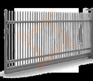 Ручные сварные металлические откатные ворота