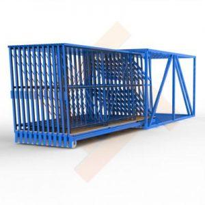 Касетно-выкатной склад листового DLF стекла
