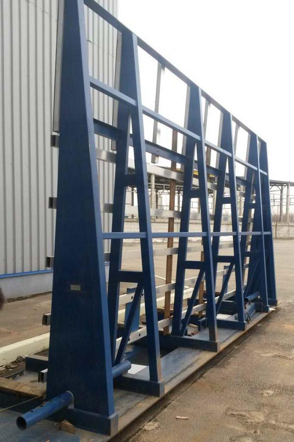 Односторонняя стойка (стекловоз, Inloader) JTL-8 для перевозки стекла JUMBO, PLF, DLF