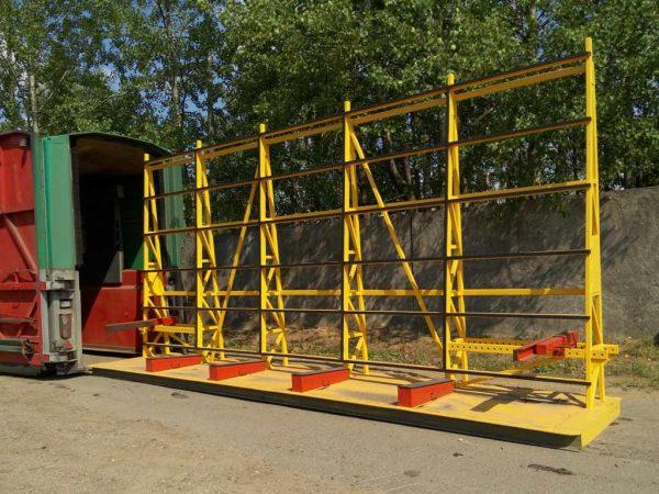 Односторонняя стойка (стекловоз, Inloader) JTL-9 для перевозки стекла JUMBO, PLF, DLF