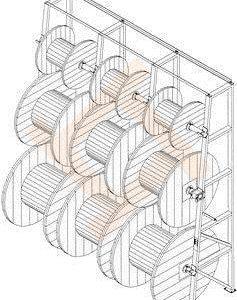 Стеллаж для катушек (барабанов) с кабелем