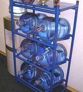 Стационарный стеллаж для 19-ти литровых бутылей (канистр)