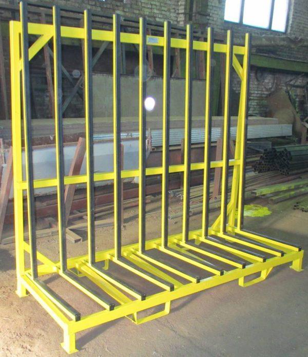стойка (парамида) для хранения стекла, стеклопакетов, зеркал производства Монолит Металлоконструкции