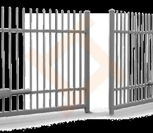 Сварные металлические распашные ворота