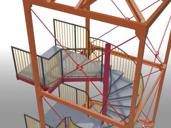 технологические лестницы от производителя - metalwork.by