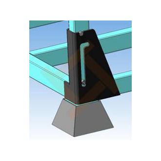 Универсальная складская паллета (поддон) из металла - опора
