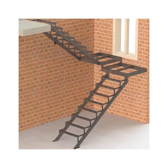 Внутренняя маршевая лестница на двух косоурах