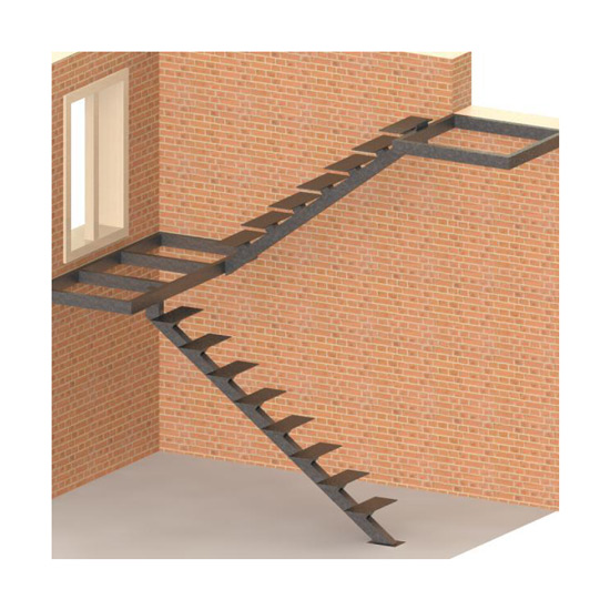 Внутренняя маршевая лестница на одном косоуре