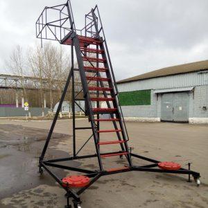 Мобильная телескопическая лестница