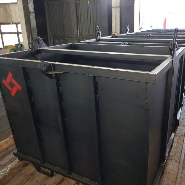 краб контейнер металлический под погрузчик, объем от 1 до 3 куб.м