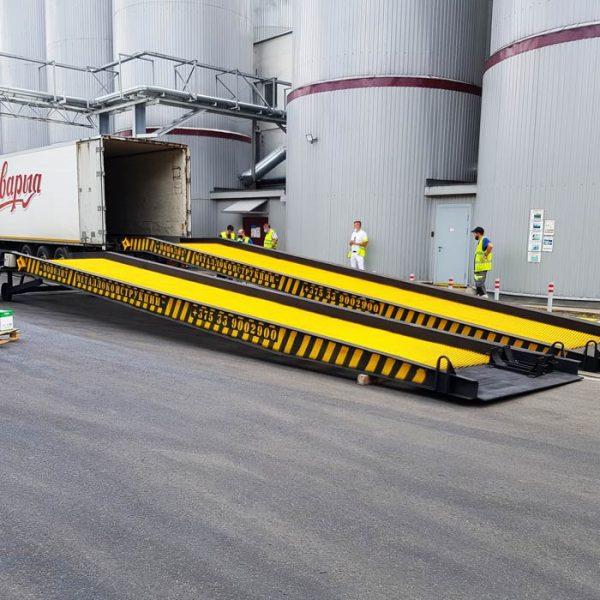 Мобильная рампа с электроприводом: 15 тонн / 13 метров